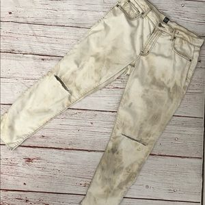 GAP- up cycled, distressed, unique tie dye jeans